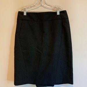 Ann Taylor LOFT Black Pencil/Suit Skirt